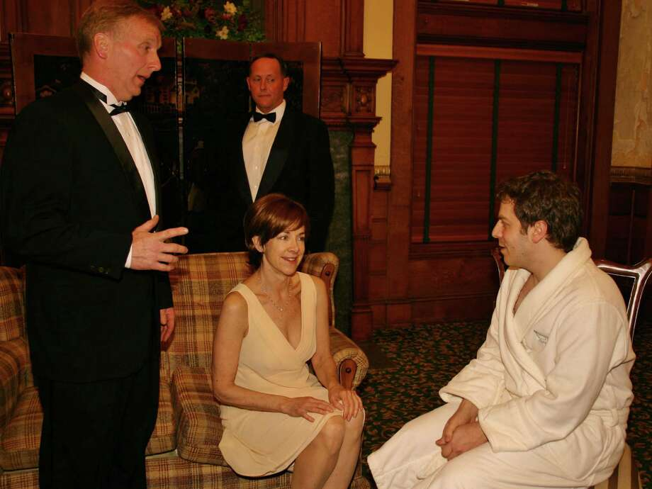 "A.R. Gurney's ""Black Tie"" is receiving its Connecticut premiere at Stratford's Square One Theatre, starting Friday, May 17. The cast includes (left to right) David Victor, Janet Rathbert (seated), Jim Buffone and John Bachelder. Photo: Contributed Photo"