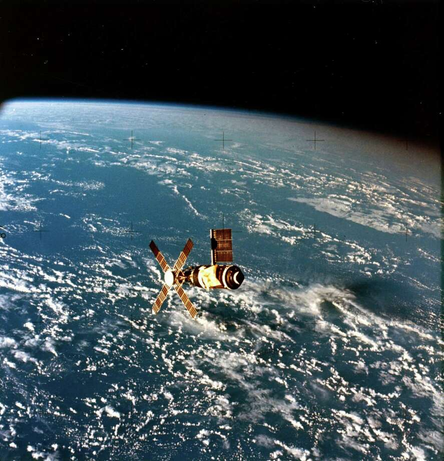 """Calculations projected Skylab would soon start falling and burn up in the atmosphere in 1983. NASA officials hoped the planned space shuttle would be able to boost the station. But the shuttle was delayed, and increased solar activity sped Skylab's fall.NASA planned a controlled reentry that would cause Skylab's fragments to land in a quiet area of the Pacific Ocean on July 12, 1979. But a miscalculation and the fact the station remained unexpectedly intact after passing through the atmosphere caused pieces to fall on Western Australia.""""Spectacular visual effects were reported and many residents heard sonic booms and whirring noises as the chunks passed overhead in the early morning darkness,"""" Compton and Benson wrote. """"Officials waited anxiously for news of injury or property damage, but none came. Skylab was fully down and NASA had managed it without hurting anyone.""""Stan Thornton, a 17-year-old beer-truck driver, found some charred objects in his back yard, bagged them up and caught the first plane for California to visit a San Francisco newspaper that had offered $10 000 for the first authenticated piece of Skylab brought to its office within 48 hours of reentry. Photo: Science & Society Picture Librar, SSPL Via Getty Images / Please read our licence terms. All digital images must be destroyed unless otherwise agreed in writing."""
