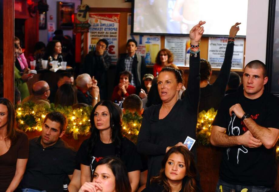 No: 8 Orangehas 71.3 percent of new moms in the labor force. The national average is 60.8 percent.  Mom Stacey Newell keeps her fingers crossed as she and other family and friends watch Nick Newell fight for the MMA Lightweight Championship in Nashville, Tenn. which was televised live at Orange Ale House in Orange, Conn. on Friday December 7, 2012.