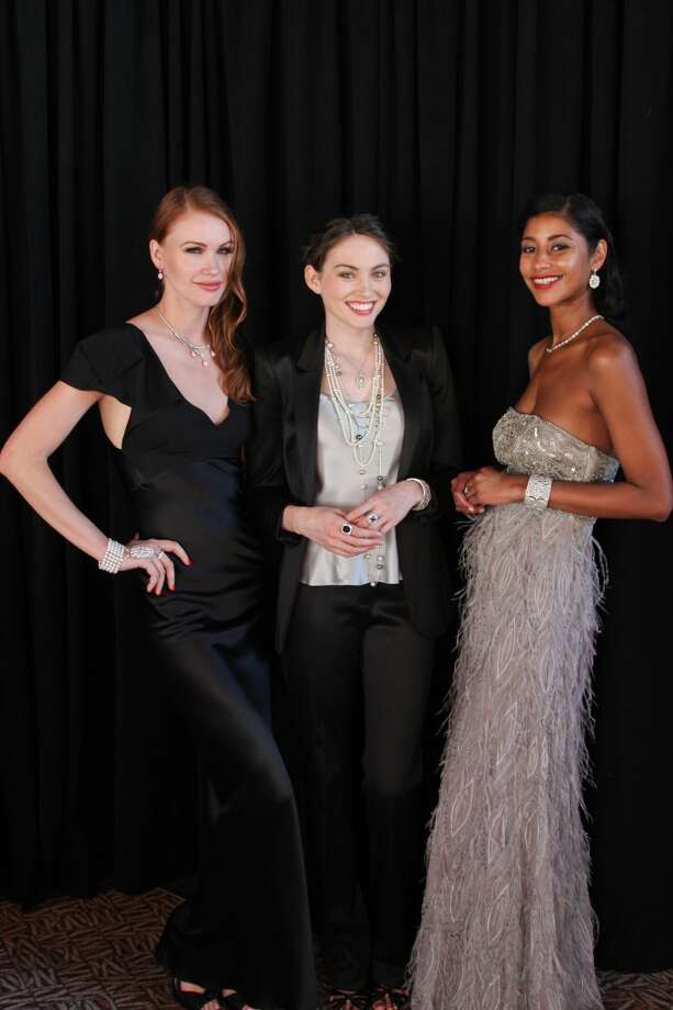 Models wore pieces from Tiffany & Co.'s The Great Gatsby Collection and The American Glamour Collection.