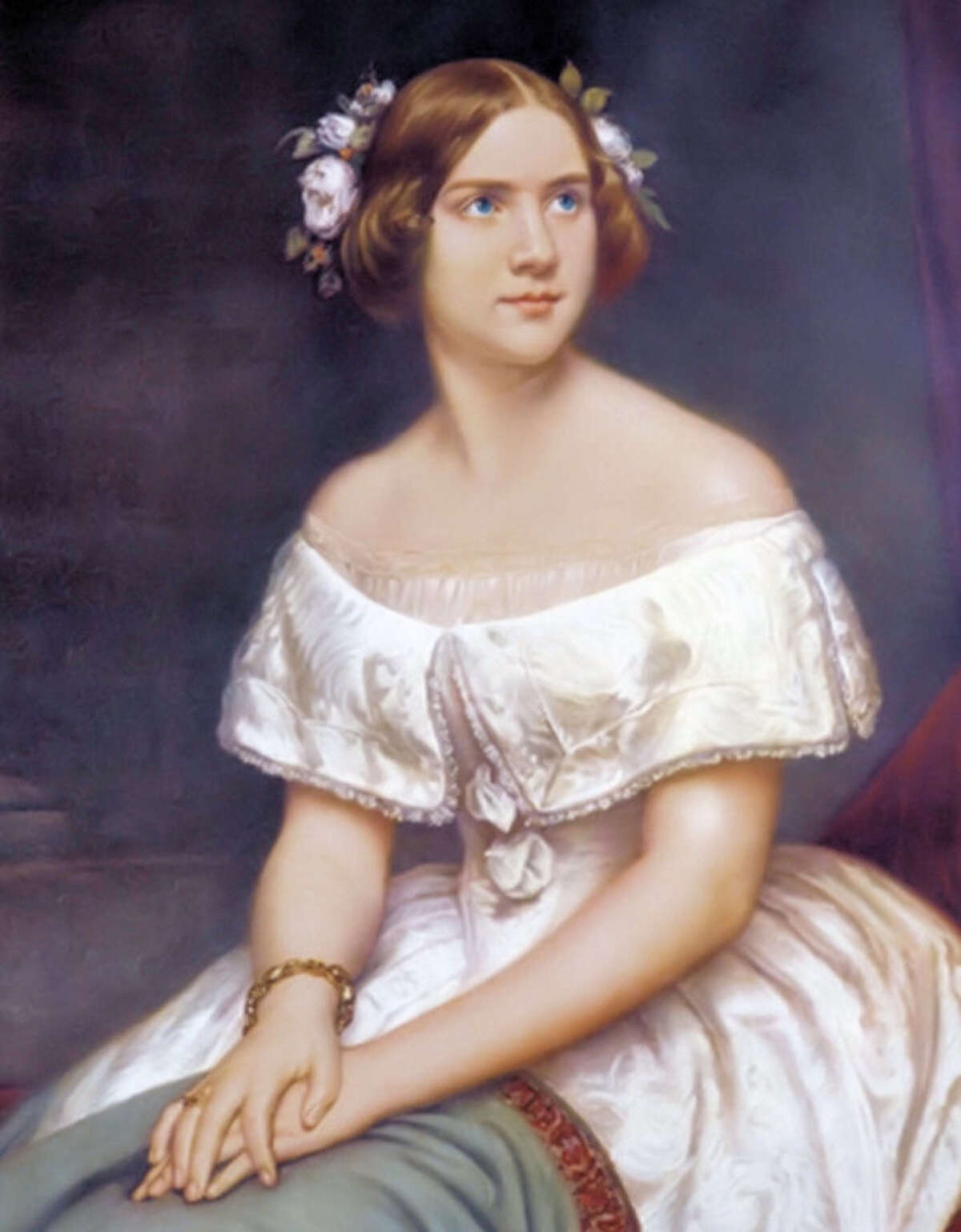The lovely Swedish Jenny Lind who took America by storm in 1850. Painting courtesy of Bridgeport's Barnum Museum.
