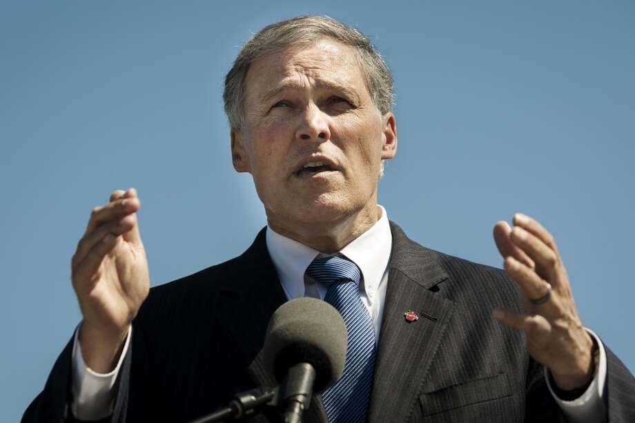"Governor Jay Inslee, halfway into his term, raising money for both presidential aspirations and his ""state account."" . (Jordan Stead, seattlepi.com)"