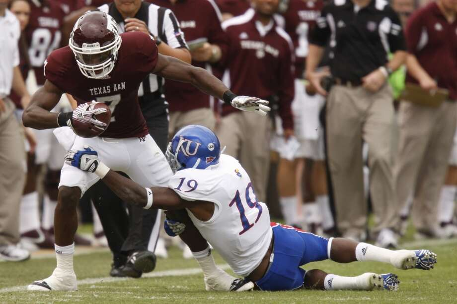Undrafted free agentTexas A&M wide receiver Uzoma Nwachukwu. Photo: Patrick T. Fallon, Staff Photographer