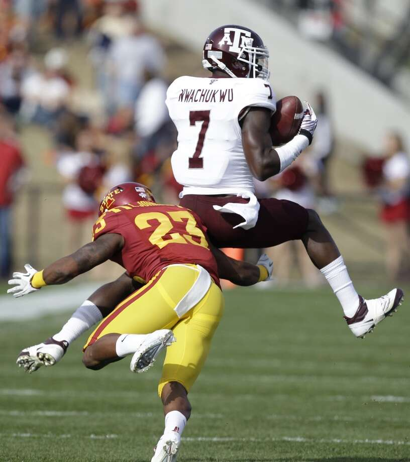 Undrafted free agentTexas A&M wide receiver Uzoma Nwachukwu. Photo: Charlie Neibergall, Associated Press