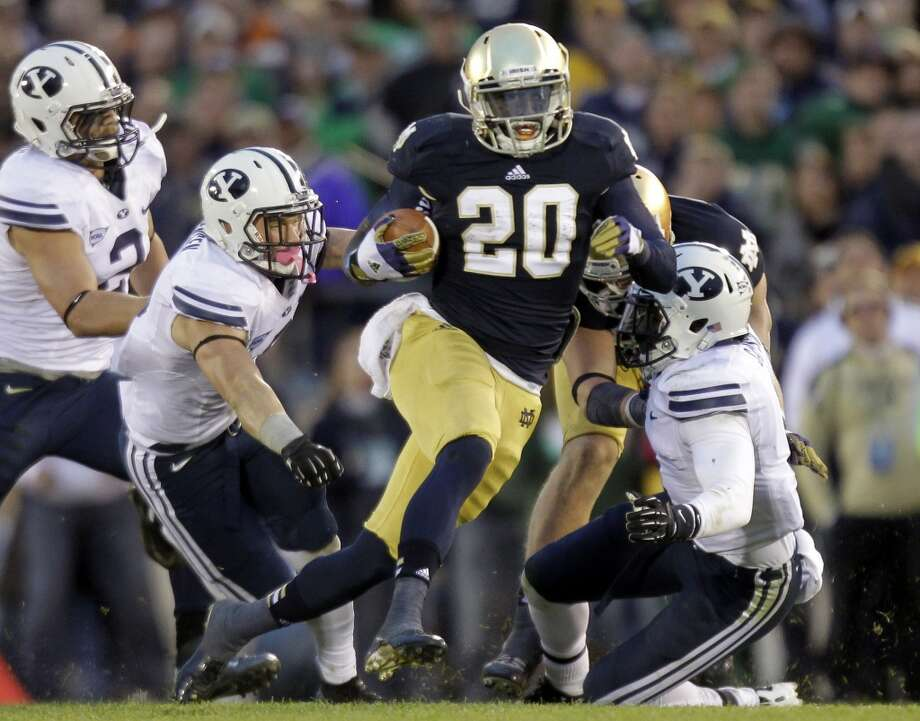 Undrafted free agentNotre Dame running back Cierre Wood. Photo: Michael Conroy, Associated Press