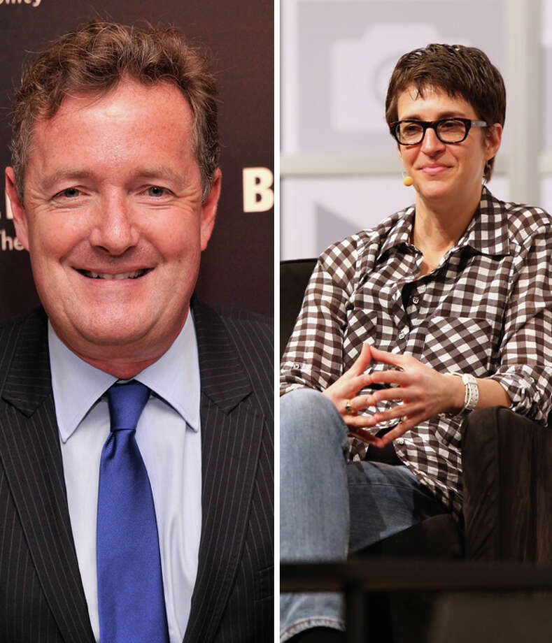Rachel Maddow and Piers Morgan. To form a debate club on Mars for nightly debates with Limbaugh and Beck. Photo: Multiple