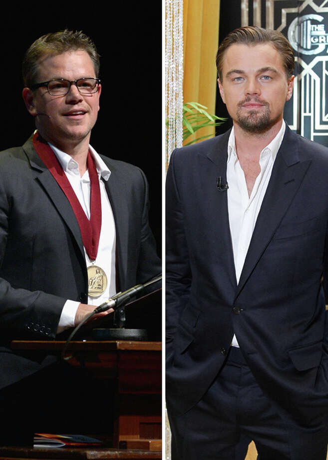 One of these two, either Matt Damon or Leonardo DiCaprio. (We'll need a strong male lead out there.) Photo: Multiple