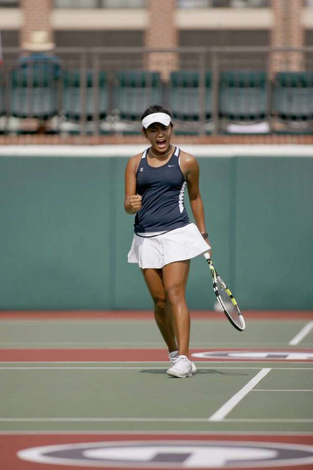 Her coach calls junior Kimberly Anicete the spark plug of the Rice women's tennis team. Photo: C. B. Schmelter / © 2012 C. B. Schmelter, cody.schmelter@gmail.com