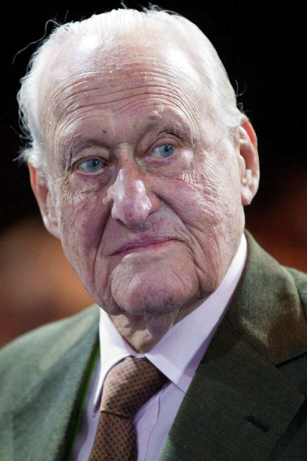 FILE - The June 1, 2011 file photo shows former FIFA president Joao Havelange prior to the 61st FIFA Congress held at the Hallenstadion in Zurich, Switzerland. Former FIFA President Joao Havelange resigned as honorary president of soccer's governing body in a World Cup bribery case that has tarnished the organization for more than a decade.  (AP Photo/Keystone, Alessandro Della Bella) Photo: Alessandro Della Bella / Keystone