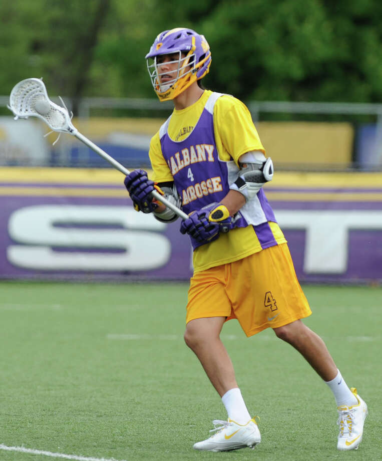 Lyle Thompson during UAlbany men's lacrosse practice on Thursday, May 9, 2013 in Albany, N.Y. (Lori Van Buren / Times Union) Photo: Lori Van Buren / 00022358A