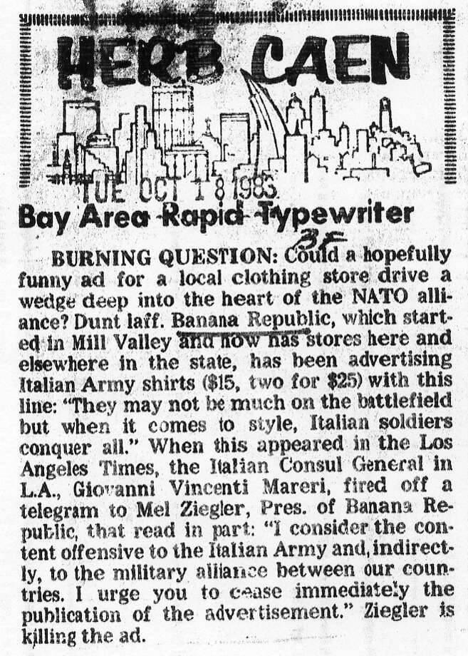 Another Herb Caen item about Banana Republic. Photo: Chronicle Archives, The Chronicle / ONLINE_YES