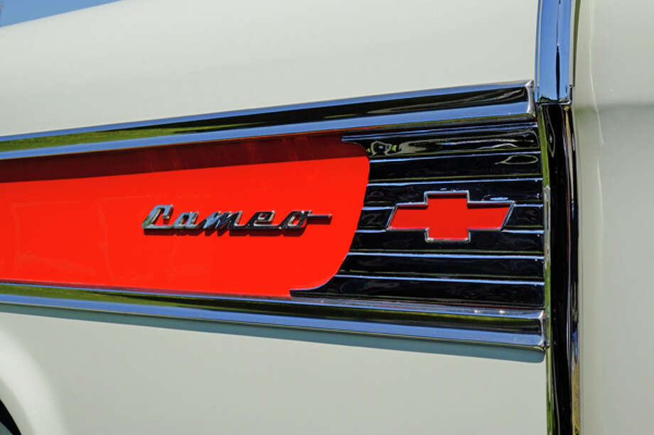 Side panel from a '58 Chevy Cameo Carrier.  One of the first, great personal pickups. / copyright: Dan Lyons - 2013