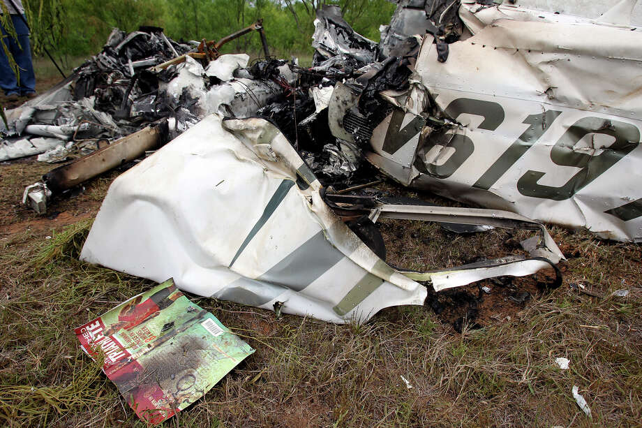 Plane crash near Fredericksburg   on May 8, 2013. Photo: TOM REEL