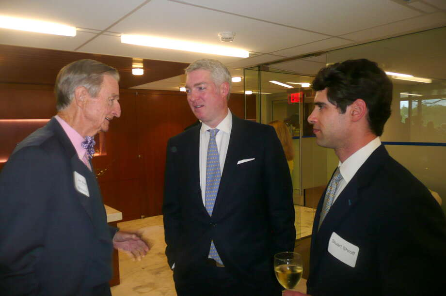 """On May 8, 2013, Russell """"Russ"""" Reynolds hosted an """"Open House"""" of the new headquarters of RSR Partners, an executive search and corporate board recruiting firm,  at 600 Steamboat Road, overlooking Greenwich Harbor. Photo: Picasa, Anne W. Semmes"""
