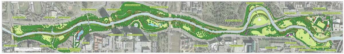 The Buffalo Bayou Park Shepherd-Sabine project. Rendering, courtesy of The SWA Group