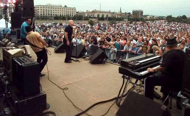 The Fabulous Thunderbirds play to thousands in the Corning Preserve for Alive@5 in the summer of 1998. (Times Union archive) Pho