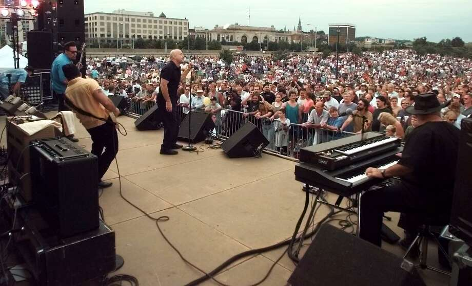 The Fabulous Thunderbirds play to thousands in the Corning Preserve for Alive@5 in the summer of 1998. (Times Union archive) Photo: JAMES GOOLSBY / ALBANY TIMES UNION