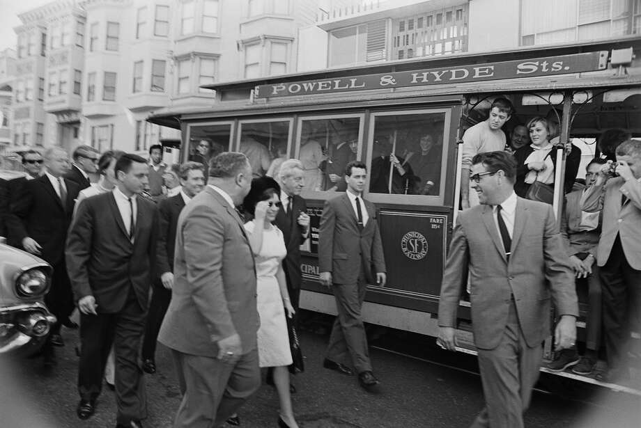 1965: Princess Margaret and Lord Snowdon in San Francisco during a visit to America. Photo: Harry Benson, Getty Images / 2013 Getty Images