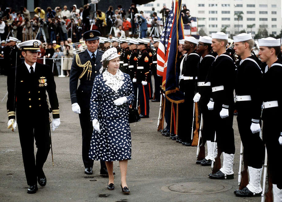 1983: The Queen during a visit to San Diego. Photo: Tim Graham, Tim Graham/Getty Images / Tim Graham Photo Library