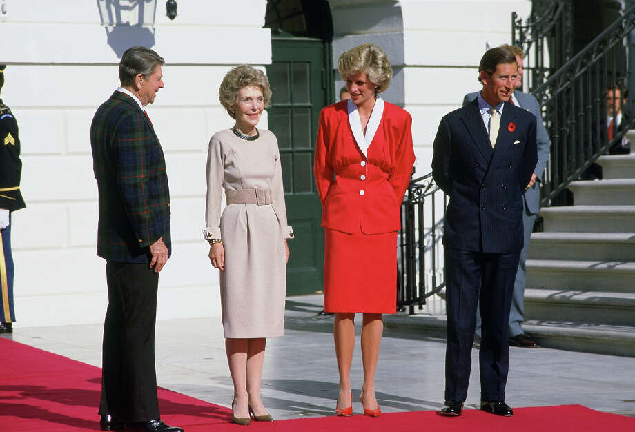 1985: Prince Charles, the Prince of Wales and Princess Diana, the Princess of Wales meet President Ronald Reagan and First Lady Mrs. Nancy Reagan at the White House. Photo: Tim Graham, Getty Images / 2005 Tim Graham