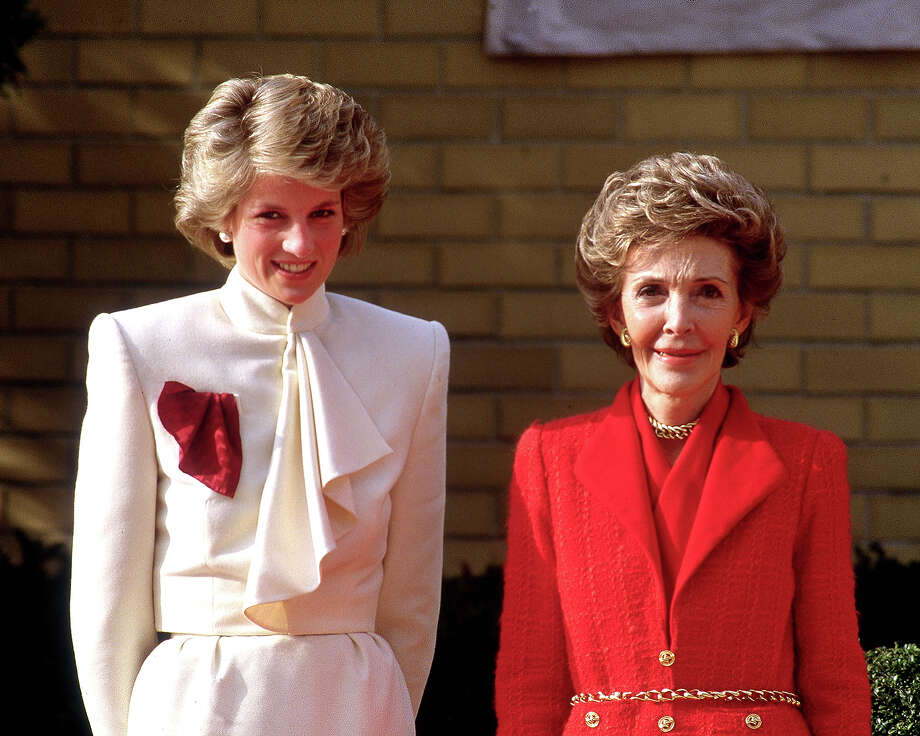 1985: Princess Diana with American First Lady Nancy Reagan during a visit to a drug rehabilitation center in Washington. Photo: Princess Diana Archive, Getty Images / 2007 Getty Images