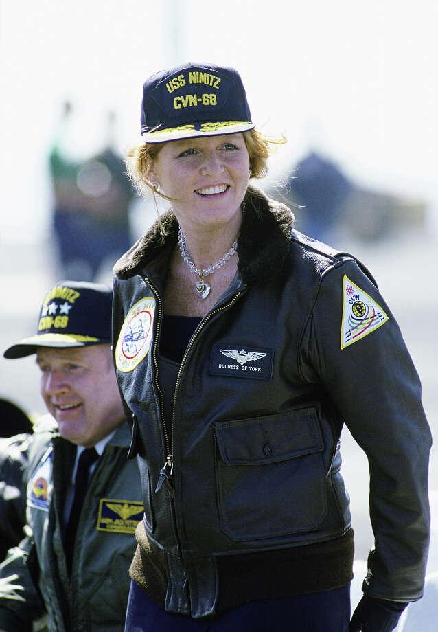 1988: Sarah, Duchess Of York Visiting on the USS Nimitz in Los Angeles. Photo: Tim Graham, Tim Graham/Getty Images / Tim Graham Photo Library