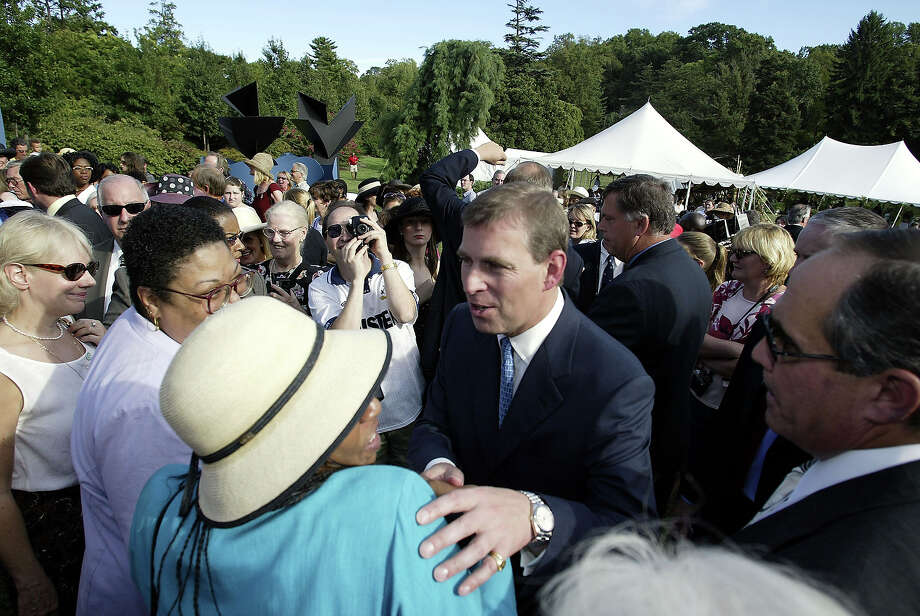 2002: His royal highness Prince Andrew, The Duke Of York visits the Commonwealth Festival at the Morris Arboretum in Philadelphia Photo: Don Murray, Getty Images / 2002 Getty Images