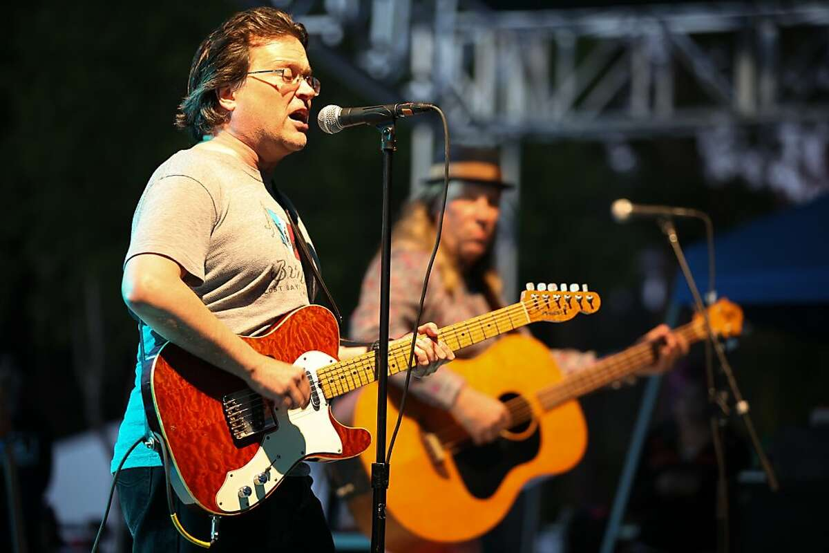 Gordon Gano and Brian Ritchie of Violent Femmes perform on stage Thursday. Violent Femmes played the Miner Family Winery Stage at Bottle Rock Napa Valley on May 9, 2013.