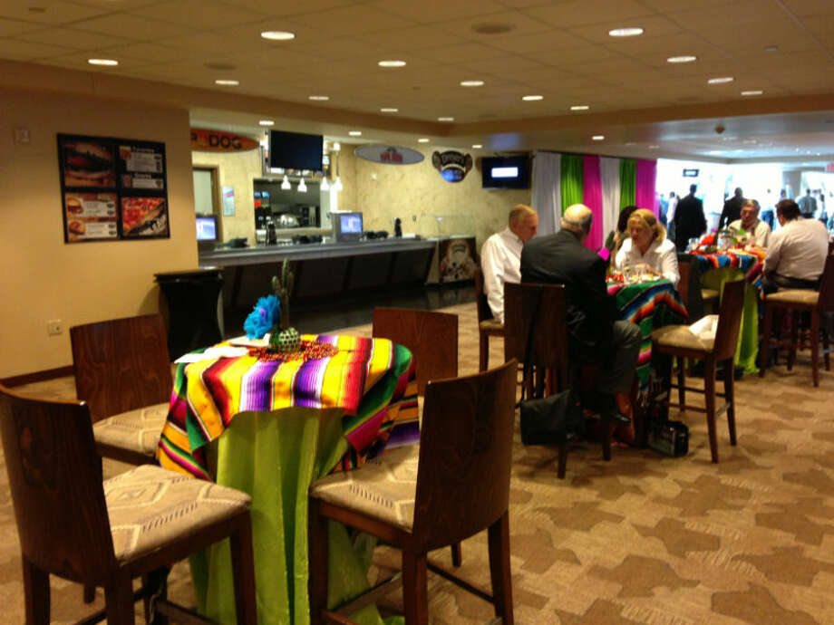 Siemen's hospitality suite was also the location of their festive Cinco de Mayo party on Wednesday, that was attended by hundreds.