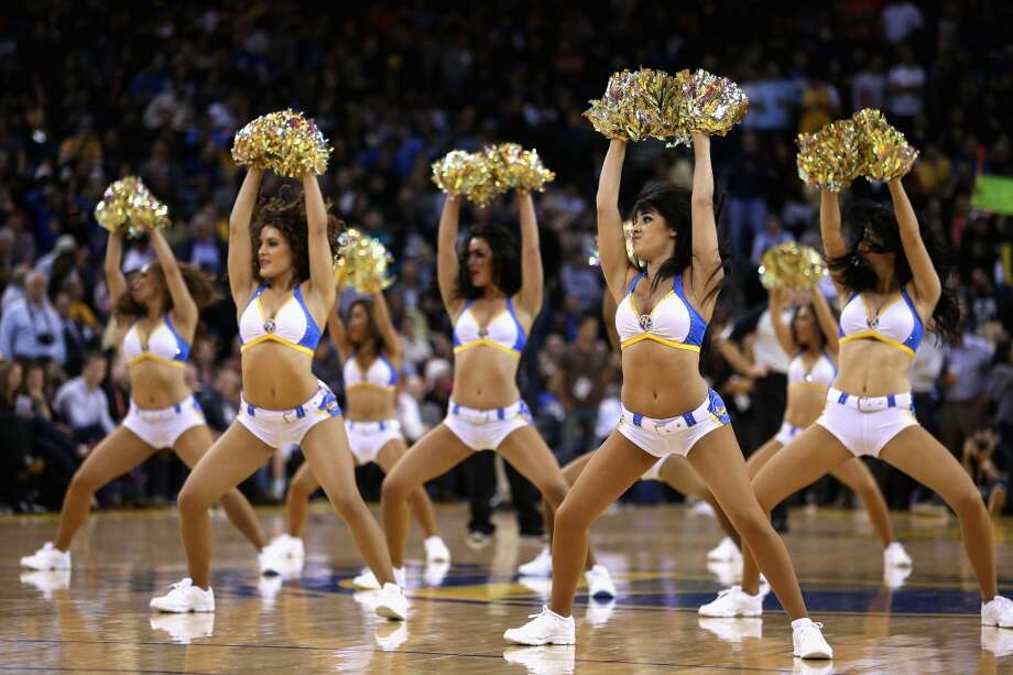 The Warrior Girls perform during their game against the Denver Nuggets at Oracle Arena on November 29, 2012.