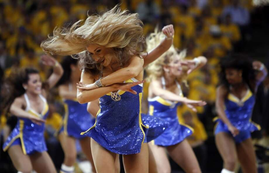 The Warrior girls perform during a timeout in the second half of the game. The Golden State Warriors played the Denver Nuggets in Game 6 of the first round of the NBA playoffs at Oracle Arena in Oakland, Calif., on Thursday, May 2, 2013.