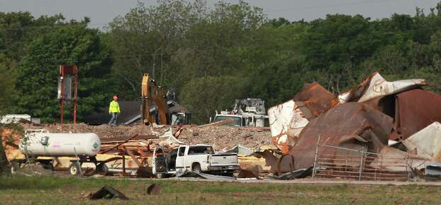 Fertilizer Plant is still considered a crime scene as after Wednesday's explosion on Sunday, April 21, 2013, in West. Photo: Mayra Beltran, Houston Chronicle / © 2013 Houston Chronicle