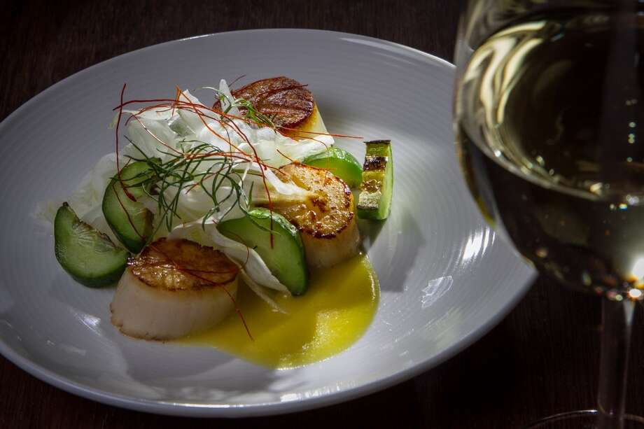 Scallops a la Plancha, Fennel, Cucumber, Preserved Meyer Lemon ($12)