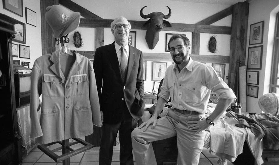 March 13, 1987: Banana Republic founder Mel Ziegler with The Gap founder Donald Fisher. As you can read in their book, the relationship between the Zieglers and the people who ran The Gap didn't stay cordial for long. The Zieglers have started other businesses, and still live in the Bay Area.