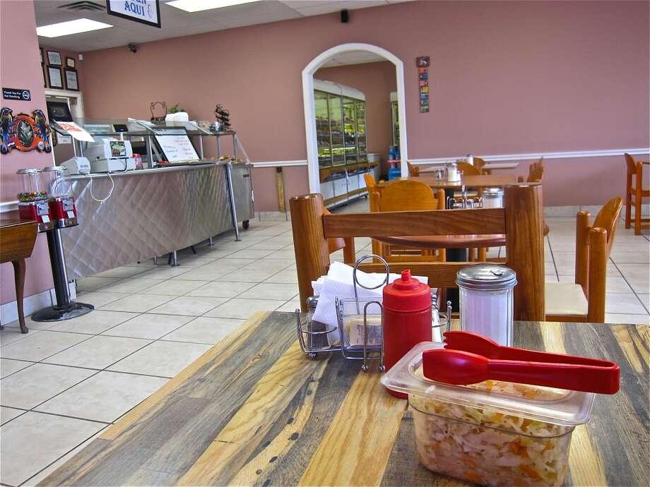 Dining room at Pupuseria y Panaderia Emanuel on Edgebrook.