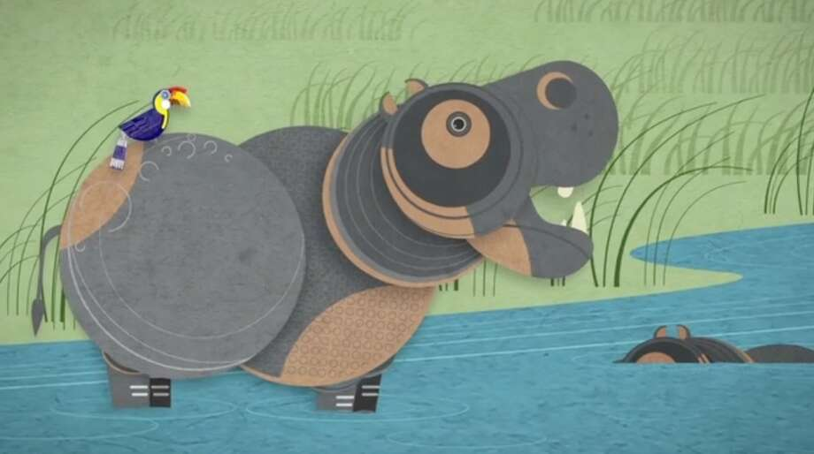 A depiction of hippos from the new ad campaign WDCW created for Woodland Park Zoo.