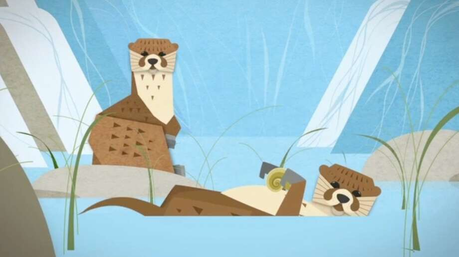 A depiction of Asian small clawed otters from the new ad campaign WDCW created for Woodland Park Zoo.