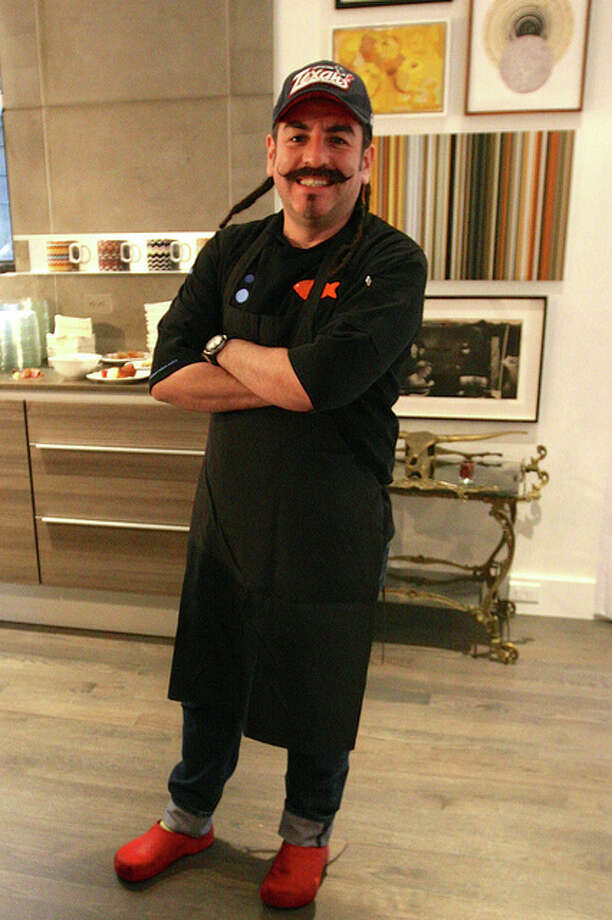 Celebrity chef Aquiles Chavez of La Fisheria served up small bites.