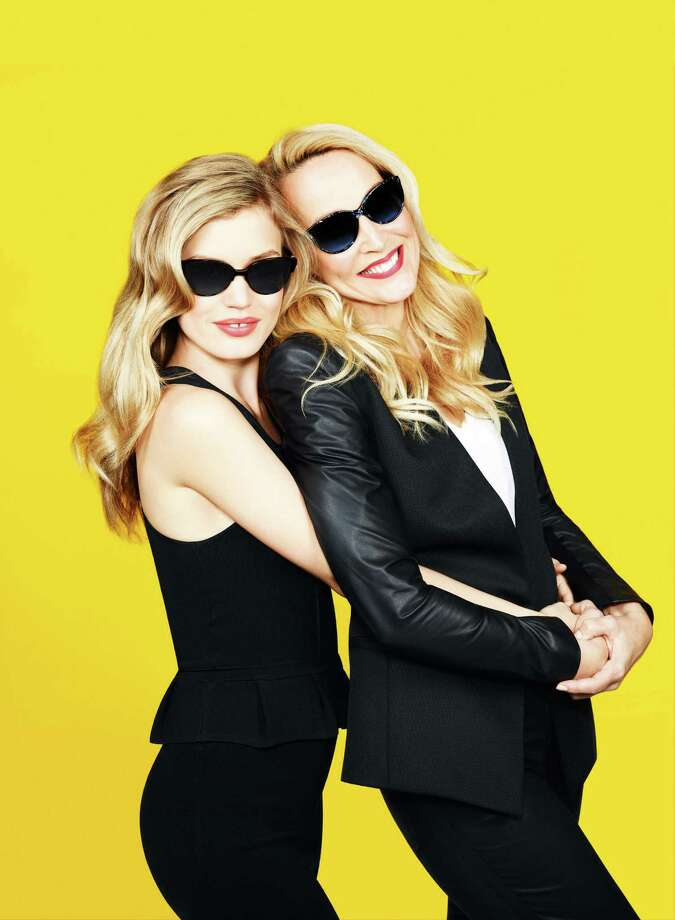 Mother-daughter models Jerry Hall (right) and Georgia May Jagger  star in an ad campaign for Sunglass Hut.