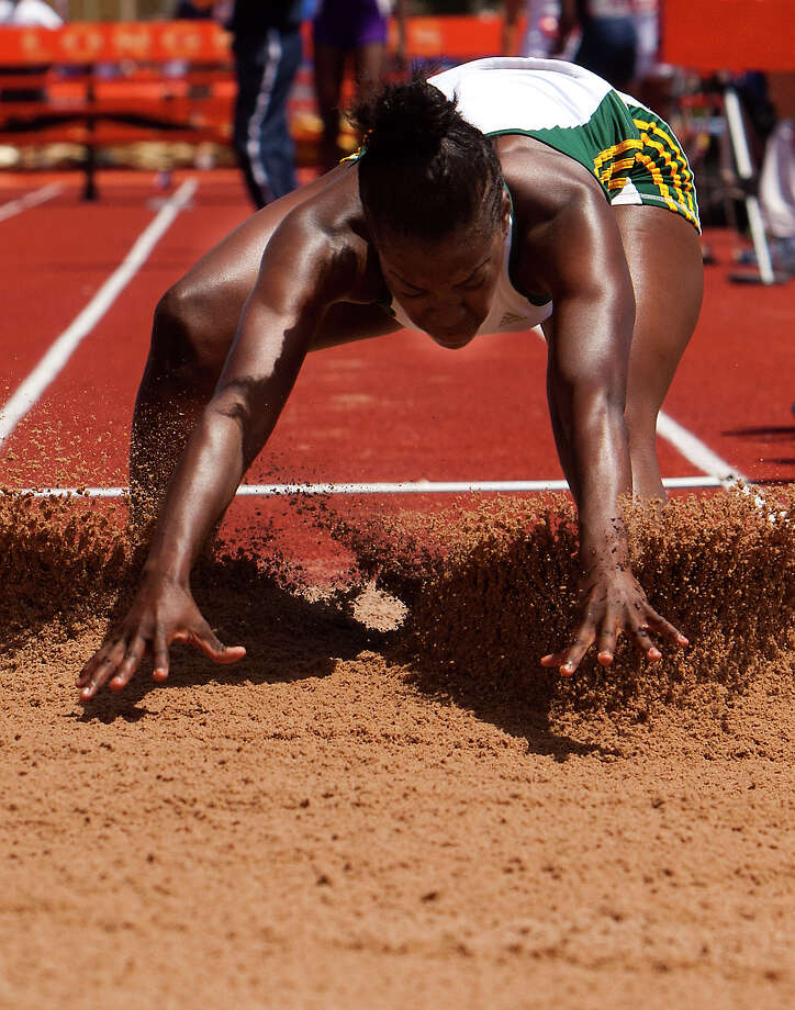 Houston Stratford's Shamaujae competes during the 4A Girls Long Jump during the High School State Track meet held at Mike A. Myers Stadium in Austin Friday, May 10, 2013, in Austin. Photo: Cody Duty, Houston Chronicle / © 2013 Houston Chronicle