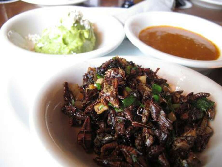 Chapulines, which is grasshopper, from Hugo's. Photo: Guns And Tacos