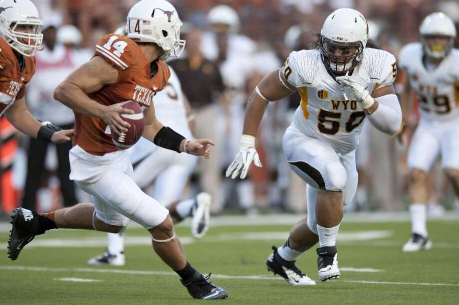 Wyoming nose tackle Mike Purcell (No. 50)