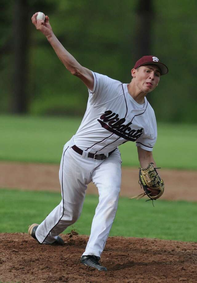 Bethel pitcher Matthew Liquori throws during his team's 3-1 win over New Fairfield at Bethel High School in Bethel, Conn. on Friday, May 10, 2013. Photo: Tyler Sizemore / The News-Times