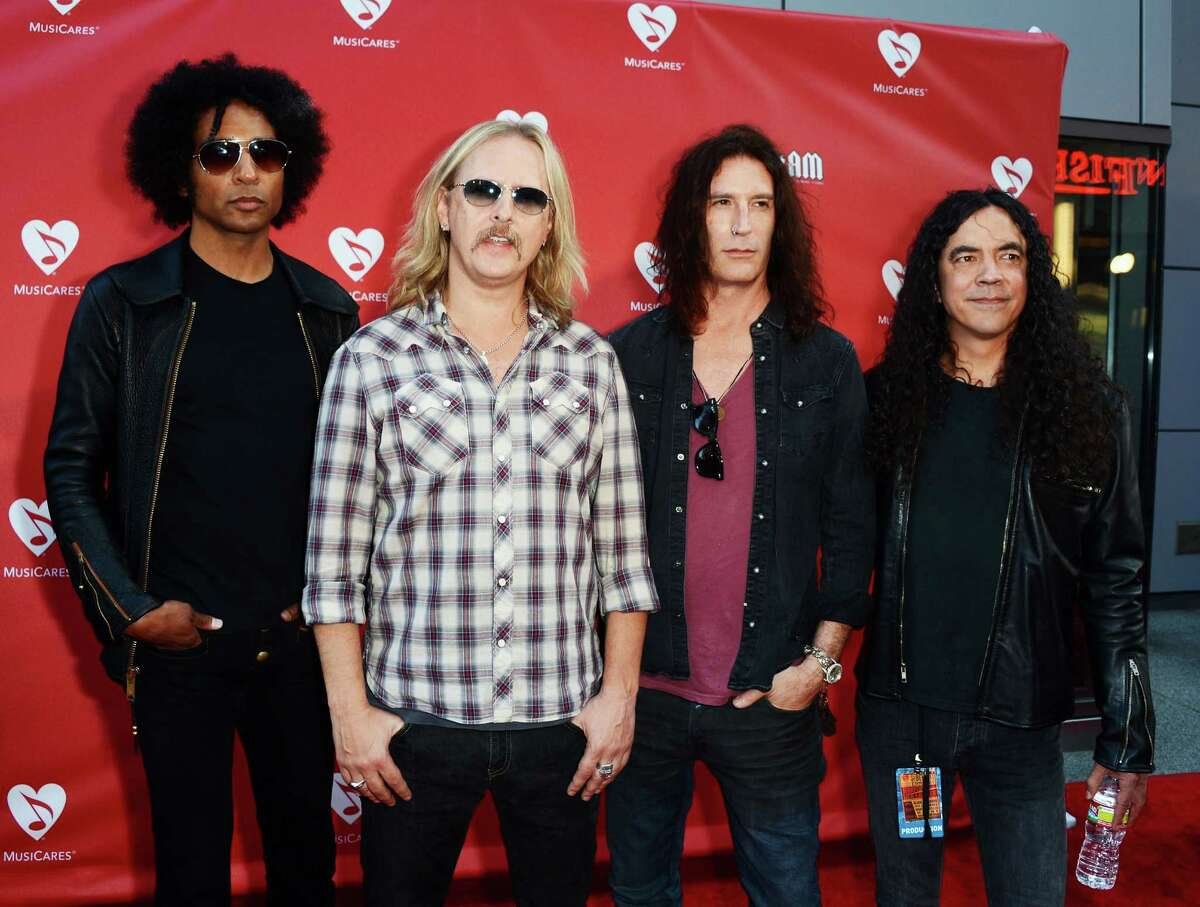 William DuVall, Jerry Cantrell, Sean Kinney and Mike Inez of the band Alice in Chains arrive at the 8th Annual MusiCares MAP Fund Benefit on May 31, 2012 in Los Angeles. The MusiCares MAP Fund benefit raises resources for the MusiCares MAP Fund, which provides members of the music community access to addiction recovery treatment.