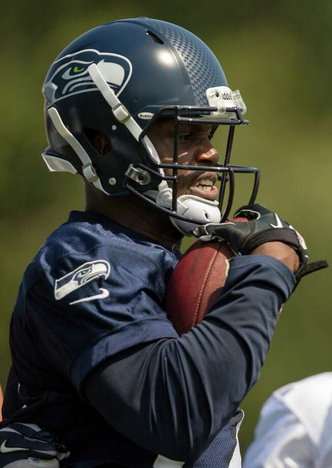 Chris Harper runs through a drill on the first day of the Seahawks Rookie Minicamp Friday, May 10, 2013, at the Virginia Mason Athletic Center in Renton. Photo: JORDAN STEAD, SEATTLEPI.COM / SEATTLEPI.COM