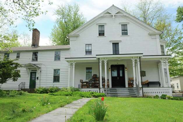 Exterior of the Herman Melville House on Friday, May 10, 2013 in Troy, N.Y. The Lansingburgh Historical Society is getting ready for Saturday's book sale to benefit restoration of the Herman Melville House. (Lori Van Buren / Times Union) Photo: Lori Van Buren / 00022372A