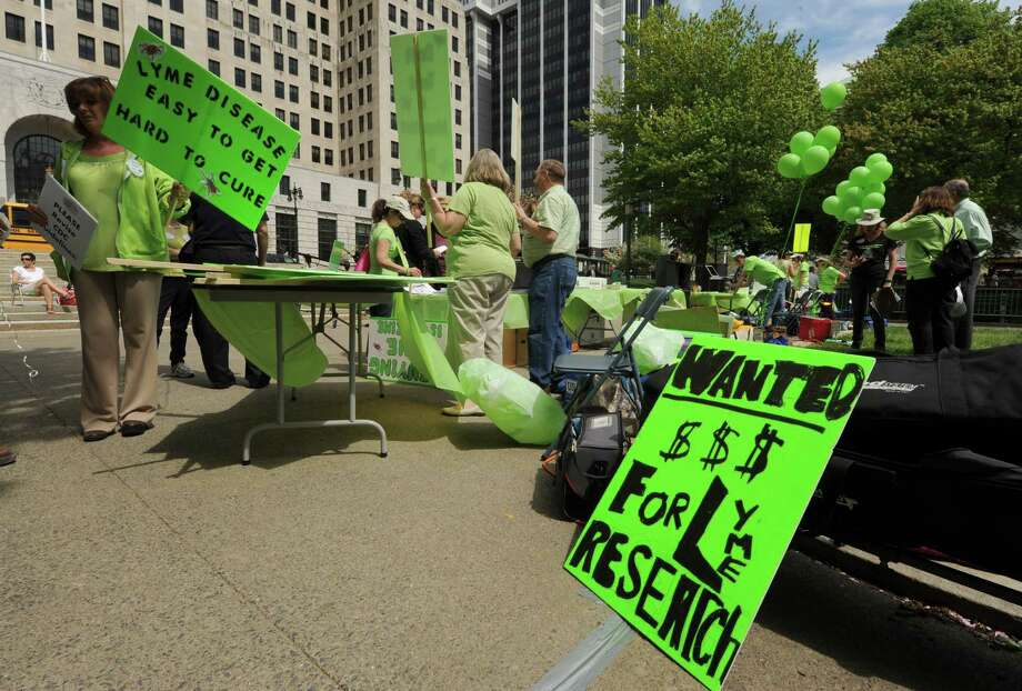 Worldwide Lyme Disease Awareness Rally was held at the West Park of the Capitol on Friday May 10, 2013 in Albany, N.Y. (Michael P. Farrell/Times Union) Photo: Michael P. Farrell