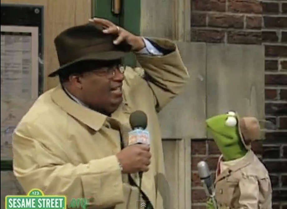 Kermit the Frog and his frantic newscasts were popular on ''Sesame Street'', but he was known more for his other TV hit, ''The Muppet Show.'' (He's pictured with Al Roker). Photo: File Photo