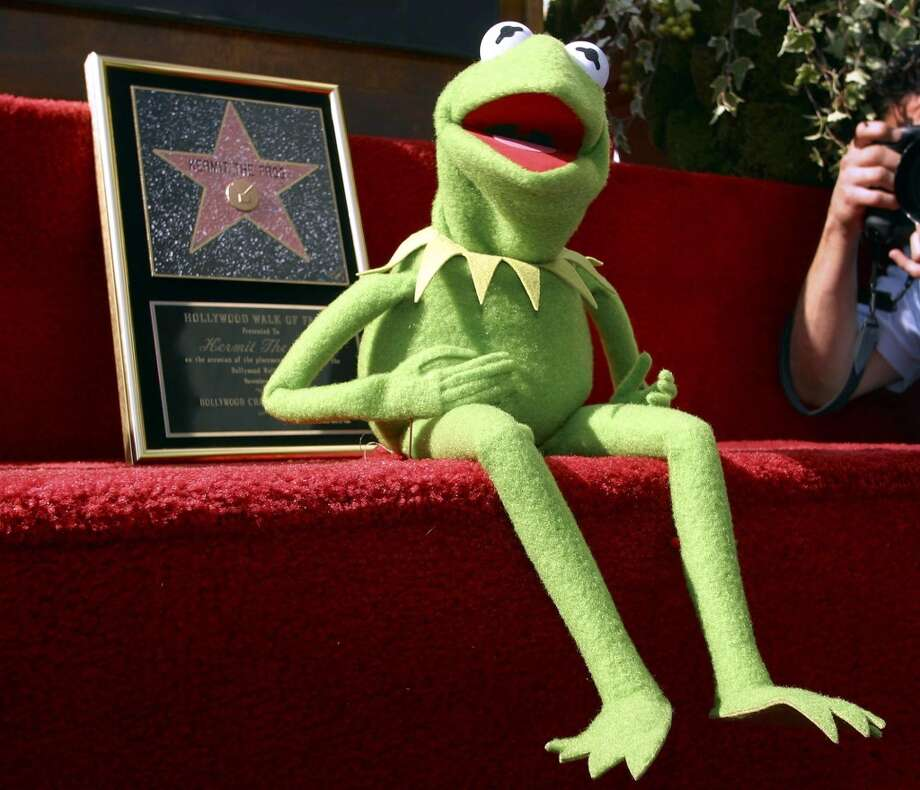 Kermit was honored with a Hollywood Walk of Fame star in 2002, decades after he sang the song, ''It's not that easy bein' green.''