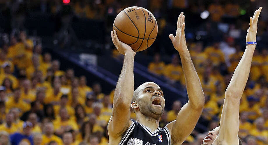 Spurs guard Tony Parker had his highest scoring game of the playoffs with 32 points in Friday's Game 3 victory over the Warriors in Oakland.  Edward A. Ornelas / San Antonio Express-News